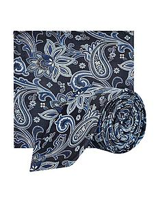 burton-menswear-london-floral-tie-and-pocket-square-set-navy