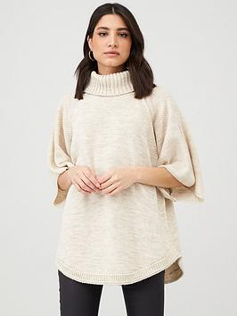 v-by-very-high-neck-knitted-poncho-camel
