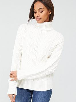 v-by-very-cable-roll-neck-jumper-cream