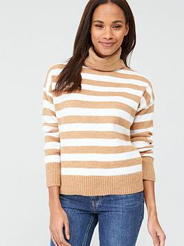 v-by-very-camel-roll-neck-jumper-stripe