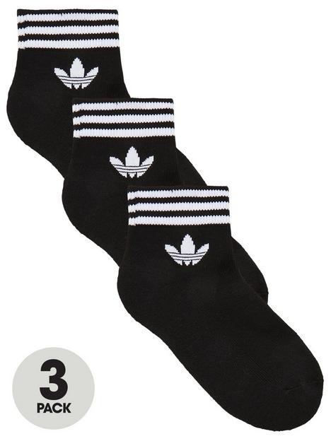 adidas-originals-kids-trefoil-linear-sock-3-pack-black