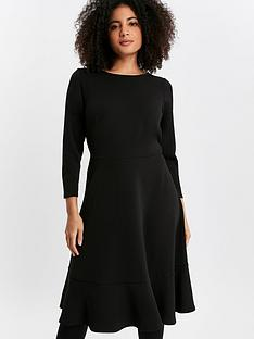 evans-black-frill-hem-dress