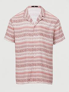 v-by-very-short-sleeved-pattern-stripe-aop-revere-shirt-burgundywhite