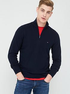 tommy-hilfiger-zig-zag-structured-zip-neck-jumper-desert-sky-navy