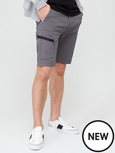 very-man-tech-cargo-shorts-grey