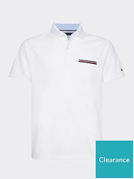 tommy-hilfiger-pocket-detail-slim-fit-polo-shirt-white