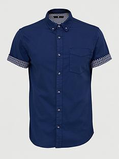 v-by-very-short-sleeve-stretch-turn-up-print-shirt-navy