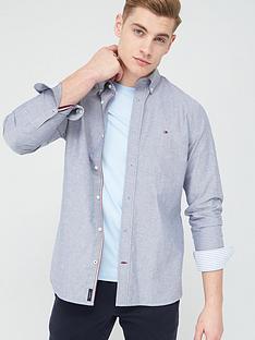 tommy-hilfiger-organic-oxford-longsleeve-shirt-carbon-navy