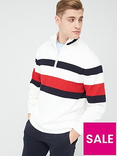 tommy-hilfiger-bold-global-stripe-zip-neck-jumper-ecru