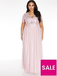 quiz-curve-v-neck-sequin-chiffon-bridesmaid-maxi-dress-blush