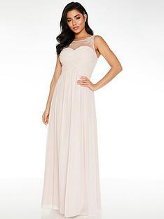 quiz-chiffon-high-neck-embellished-yoke-bridesmaid-maxi-dress-pink