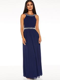 quiz-chiffon-beaded-high-neck-sleeveless-embellished-maxi-dress-navy