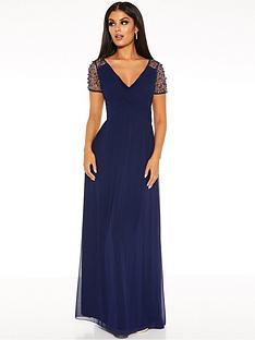 quiz-chiffon-wrap-embellished-cap-sleeve-bridesmaid-maxi-dress-navy