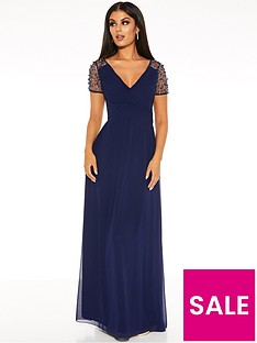 quiz-chiffon-wrap-embellished-cap-sleeve-bridesmaid-maxi-dress-navy