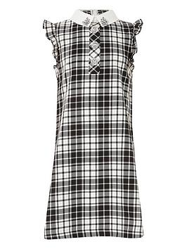 river-island-girls-monochrome-check-shirt-dress-blackwhite