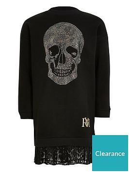 river-island-girls-embellished-skull-sweatshirt-dress-black