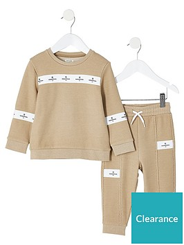 river-island-mini-boys-maison-riviera-sweat-outfitnbsp--stone