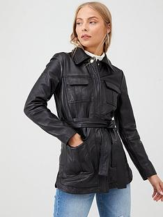 v-by-very-belted-leather-coat-black