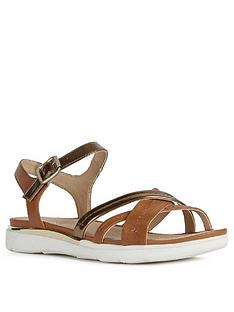 geox-shiver-leather-flat-sandal-goldtan