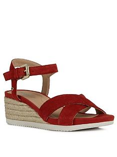 geox-ischia-suede-wedge-sandal-red