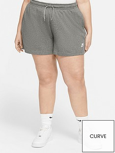 nike-curve-nsw-club-fleece-shorts-dark-grey-heather