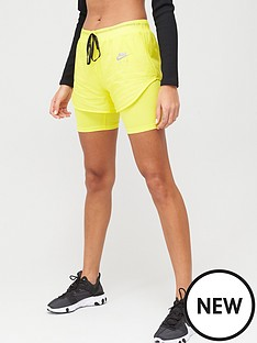 nike-air-running-2in1-shorts-yellow