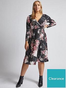 dorothy-perkins-dorothy-perkins-curve-floral-wrap-dress-pink