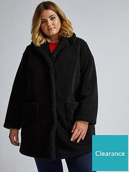 dorothy-perkins-curve-black-teddy-coat