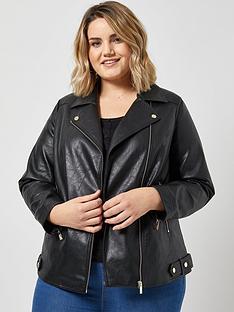 dorothy-perkins-dorothy-perkins-curve-pu-biker-jacket-black