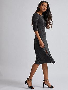 dorothy-perkins-petitenbsplurex-midi-dress-black