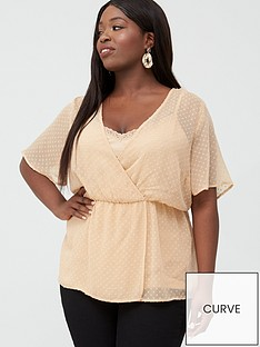 junarose-curve-galika-short-sleeve-wrap-over-blouse-cream