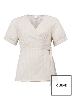 junarose-nafua-short-sleeved-wrap-blouse-off-whitenbsp