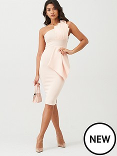 boohoo-boohoo-one-shoulder-pleated-detail-midi-dress-pale-pink