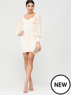 lavish-alice-chiffon-mix-blouson-corset-mini-dress-champagne