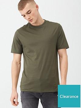river-island-slim-fit-crew-necknbspt-shirt-khakinbsp
