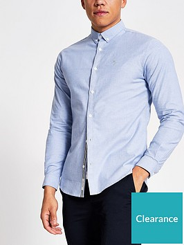 river-island-maison-logo-long-sleeve-oxford-shirt