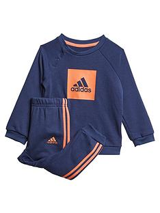 adidas-infant-3-stripe-logo-crew-set-navy