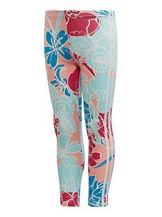 adidas-originals-girls-leggings-blue