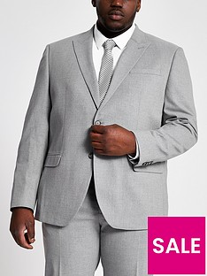 river-island-big-and-tall-grey-textured-suit-jacket