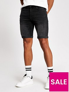 river-island-washed-black-denim-shorts