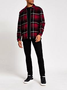 river-island-red-check-long-sleeve-overshirt