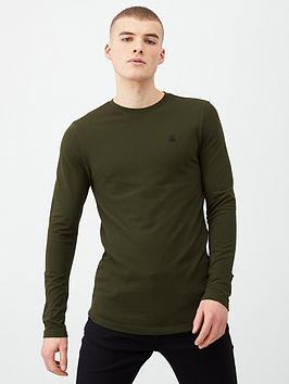 river-island-r96-long-sleeve-t-shirt-dark-greennbsp