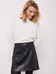 classic fit 2018 sneakers first look Mint Velvet PU Mini A-Line Skirt - Black   littlewoodsireland.ie
