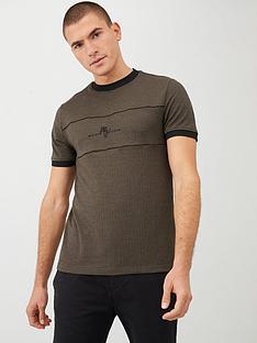 river-island-khaki-maison-riviera-slim-fit-t-shirt