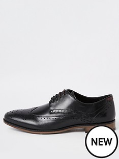 river-island-black-wide-fit-leather-lace-up-brogues