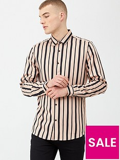 river-island-pink-black-stripe-slim-fit-long-sleeve-shirt