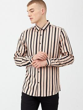 river-island-pink-black-stripe-slim-fit-long-sleeve-shirt
