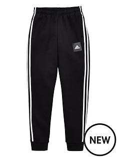 adidas-childrens-3-stripe-pants-black