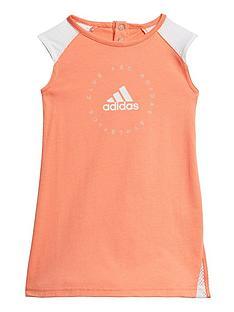 adidas-infant-girls-dress-orange