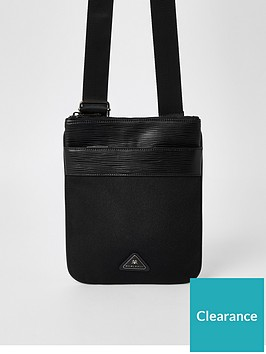 river-island-triangle-badge-flight-bag-blacknbspnbsp